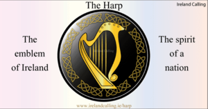 স্বর্ণ Harp, National Symbol Of Ireland