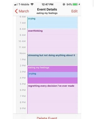 Don't be too jealous of my busy schedule