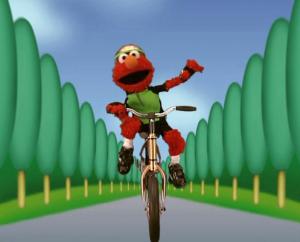 Elmo езда на велосипеде, велоспорт (Elmo's World)