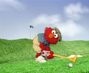 Elmo Playing Golf (Elmo's World)