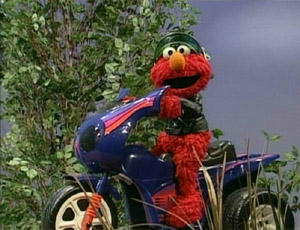 Elmo Riding a Motorcycle (Elmo's World)