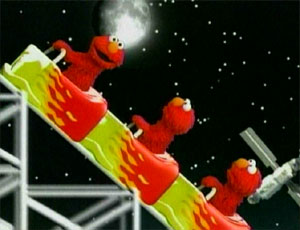 Elmo Riding a Roller Coaster (Elmo's World)