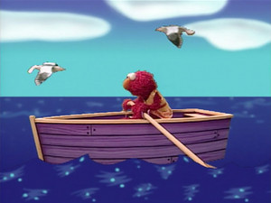 Elmo Rowing a नाव (Elmo's World)