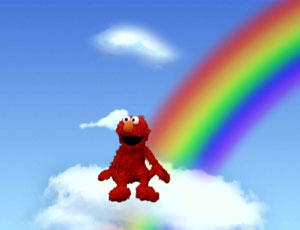 Elmo Sitting on a इंद्रधनुष (Elmo's World)