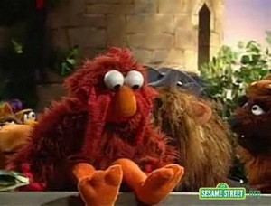 Elmo as The Chicken King (Sesame Street)