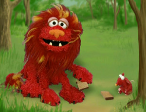 Elmo as The Lion and the মাউস (Elmo's World)