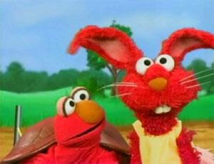 Elmo as The kura-kura and the arnab (Elmo's World)