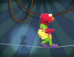 Elmo as a Circus Performer (Elmo's World)