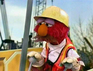 Elmo as a Construction Worker (Elmo's World)