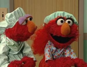 Elmo as a Doctor and Nurse (Elmo's World)