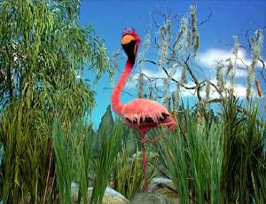 Elmo as a flamingo (Elmo's World)