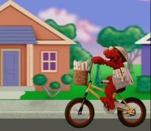 Elmo as a Paperboy (Elmo's World)