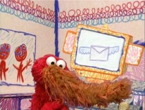 Elmo as a Snuffleupagus (The rua We Live On)