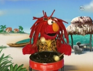 Elmo as a Steel drummer, acid (Elmo's World)
