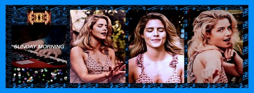 "Emily Bett Rickards fond d'écran called Emily Bett Rickards and Travis Atreo cover Maroon 5's ""Sunday Morning"" Banner 2250x830"