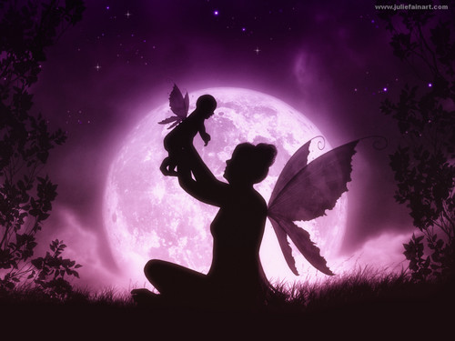 Fairies wallpaper entitled Fairy Mother and Child