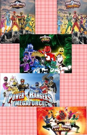Five legendary power rangers