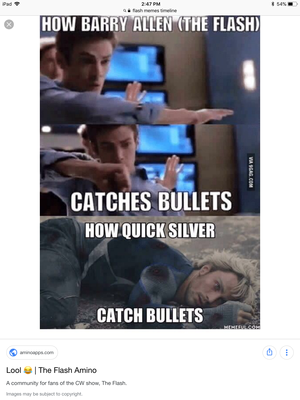 Flash is faster than Quicksilver