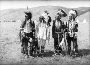 Flathead men (John Enous, Micahel Kiser, Patrick Finley, Antoine Finley)