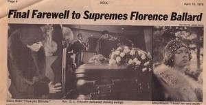 Florence Ballard's Funeral In 1976