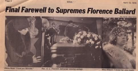 Florence Ballard's Funeral In 1976 - Selebriti Yang Mati ...