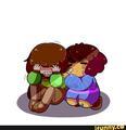 Frisk comforting Chara