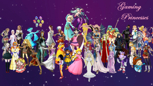 Video Games achtergrond called Gaming Princesses