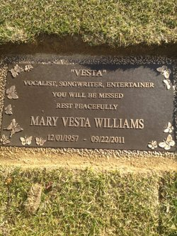 Gravesite Of Vesta Williams