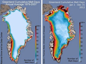 Greenland Ice Sheet Massive Meltdown