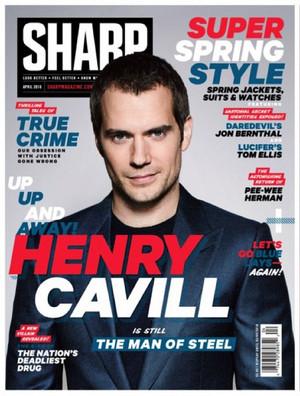 Henry Cavill - Sharp Cover - 2016