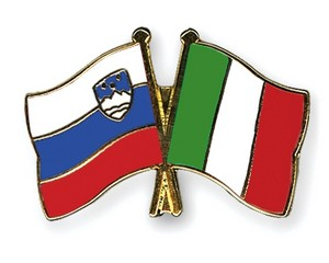 Italian and Slovenian flag