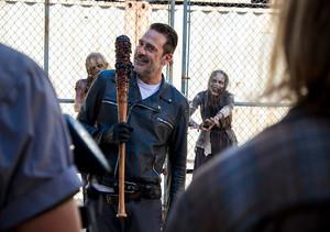 Jeffrey Dean morgan as Negan in 8x11 'Dead of Alive Or'