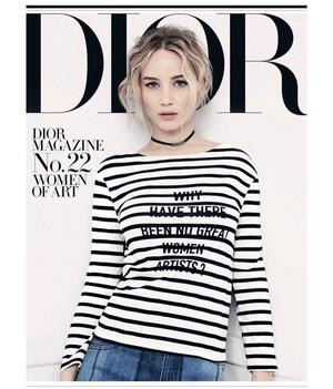 Jennifer Lawrence - Dior Magazine Cover - 2018