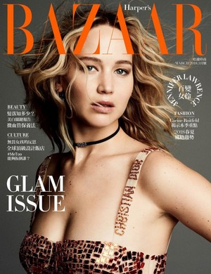 Jennifer Lawrence - Harper's Bazaar Taiwan Cover - 2018