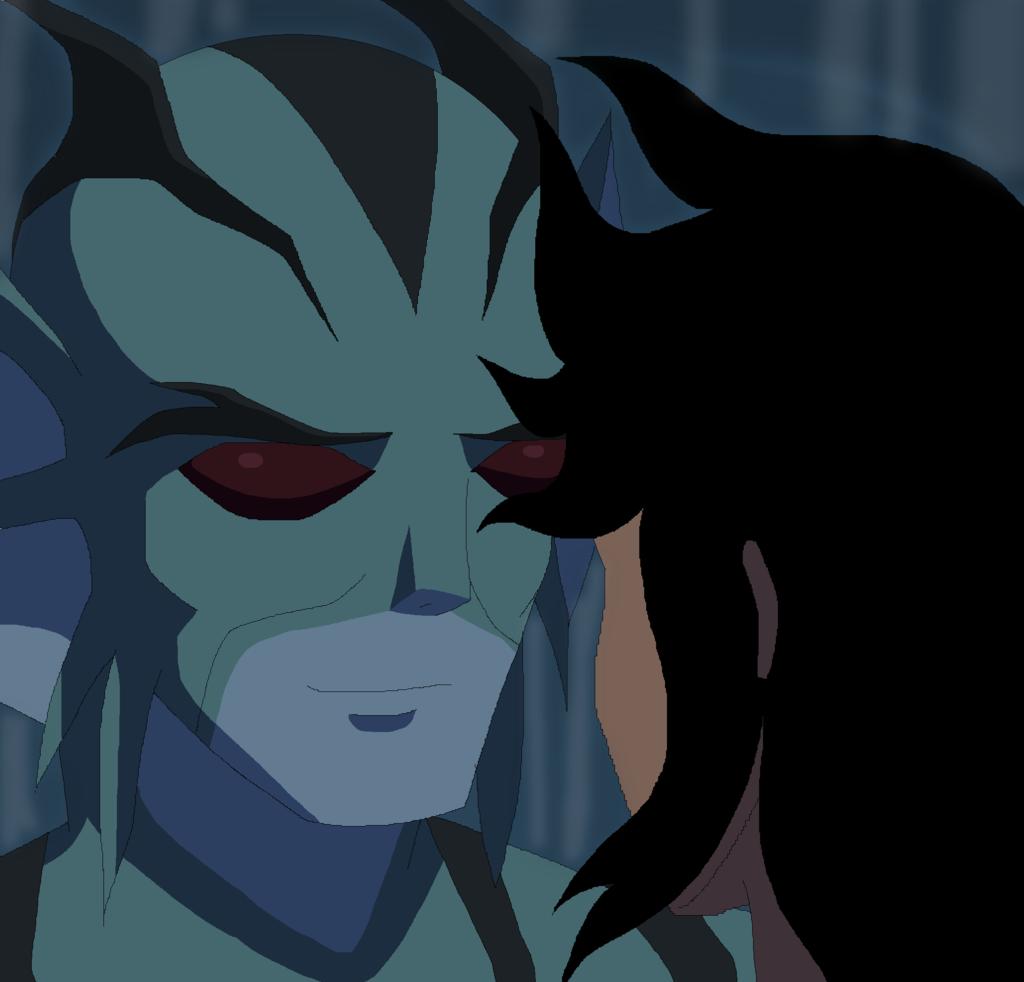 Lagoon Boy looks at Supergirl