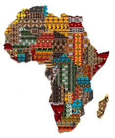 Map Of Africa Made Of Fabric