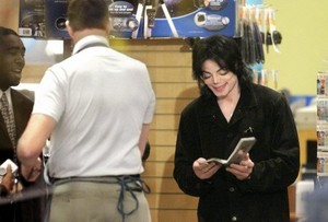 Michael reading a book
