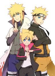 Minato,Naruto and Boruto ❤️