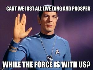 Mr Spock - звезда Trek Meets звезда Wars