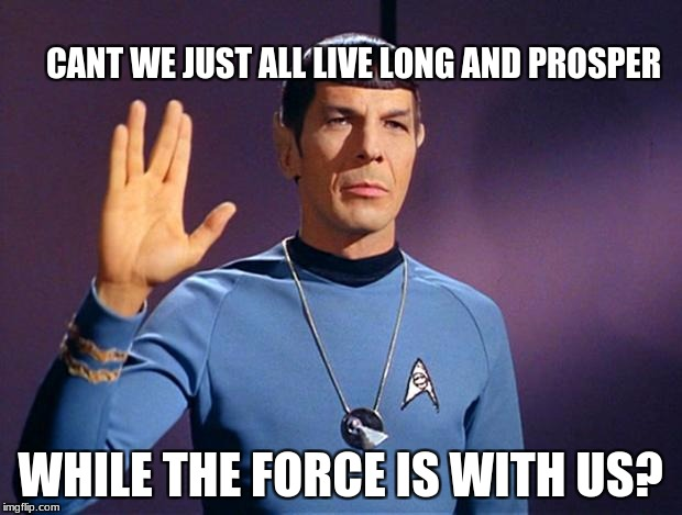 Mr Spock - ngôi sao Trek Meets ngôi sao Wars
