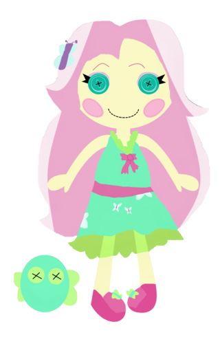 Lalaloopsy wallpaper titled Party Dress Fluttershy