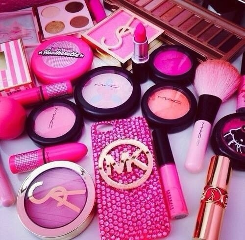 Everything Girly wallpaper called Pink Makeup