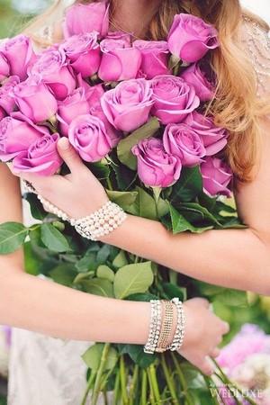 담홍색, 핑크 꽃