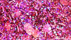 담홍색, 핑크 glitter
