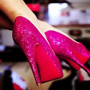 ピンク heels