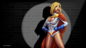 Power Girl kertas dinding - Against the dinding
