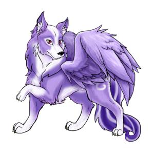 Purple Winged Wolf