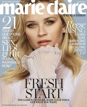 Reese Witherspoon for Marie Claire Magazine [March 2018]