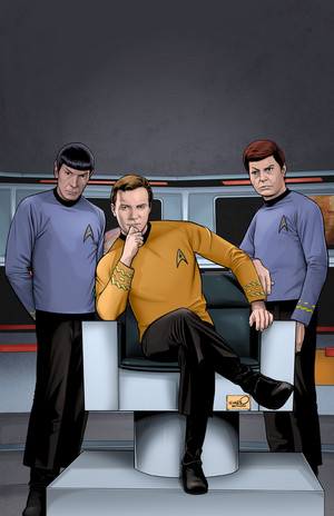 Spock, Kirk and McCoy by sharpbrothers