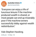Stephen Hawking on automation - debate photo